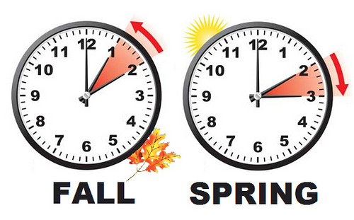 Changes in the schedule during Daylight Savings Time in the U.S.