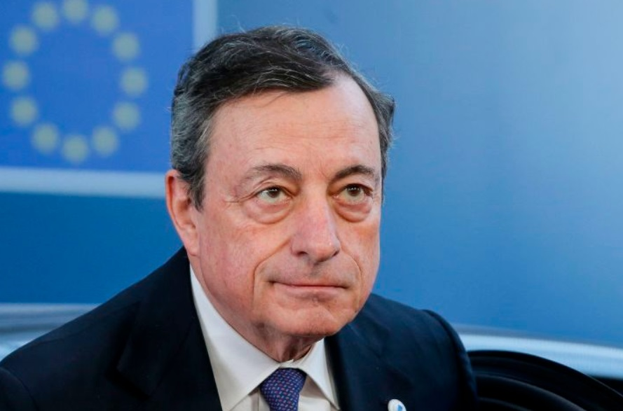Euro falls sharply as ECB's Draghi clears path for more stimulus