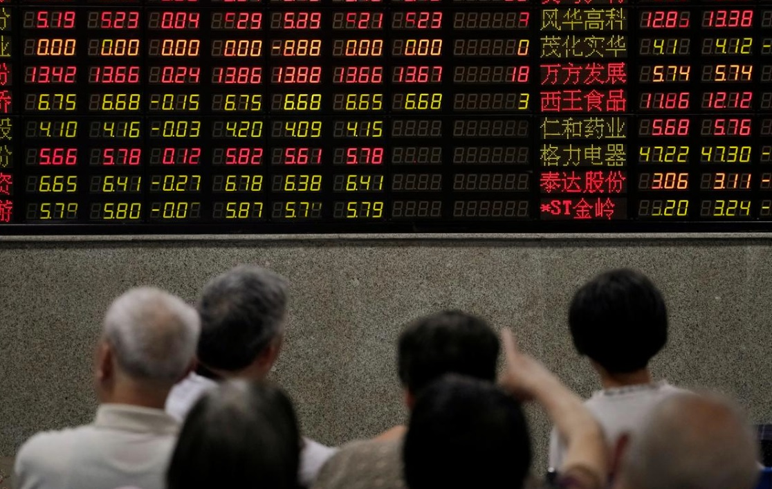 Chinese shares decline as data shows July manufacturing activity contracted