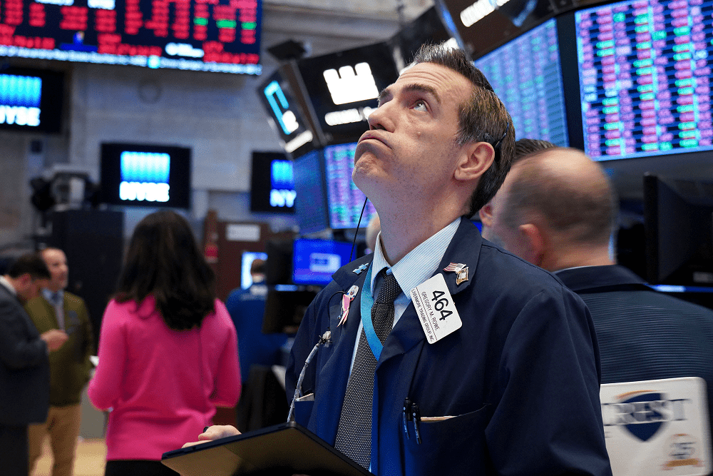 Dow falls more than 300 points as Wall Street heads for worst week since March