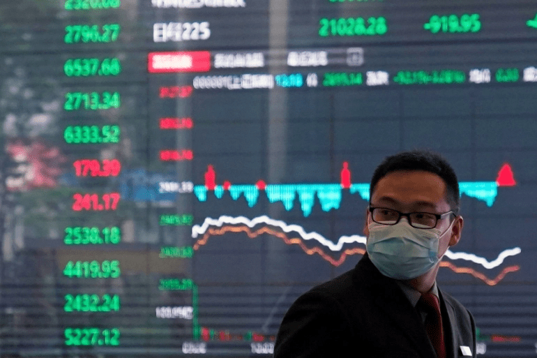 Asia-Pacific shares mostly up after Dow surges to a new record