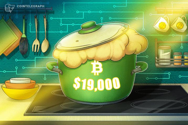 Bitcoin price hits $19K as bulls show no fear of record futures gap