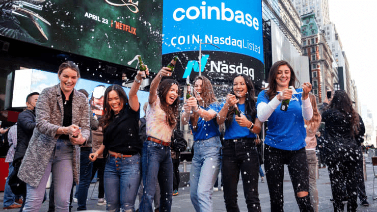 Coinbase stock whipsaws after landmark Nasdaq debut